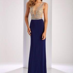 CLARISSE 3080 NAVY PROM DRESS